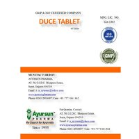 Ayurvedic Tablet For Low Blood Pressure - Duce Tablet