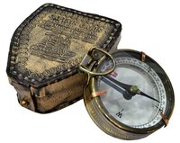 Captain Cabin Antique Compass with Leather Case