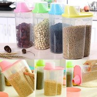 CEREAL DISPENSER JAR STORAGE CONTAINER BOX WITH LID