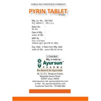 Ayurvedic Herbal Pyrin Tablet