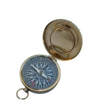 Nautical Flat Compass With Lid