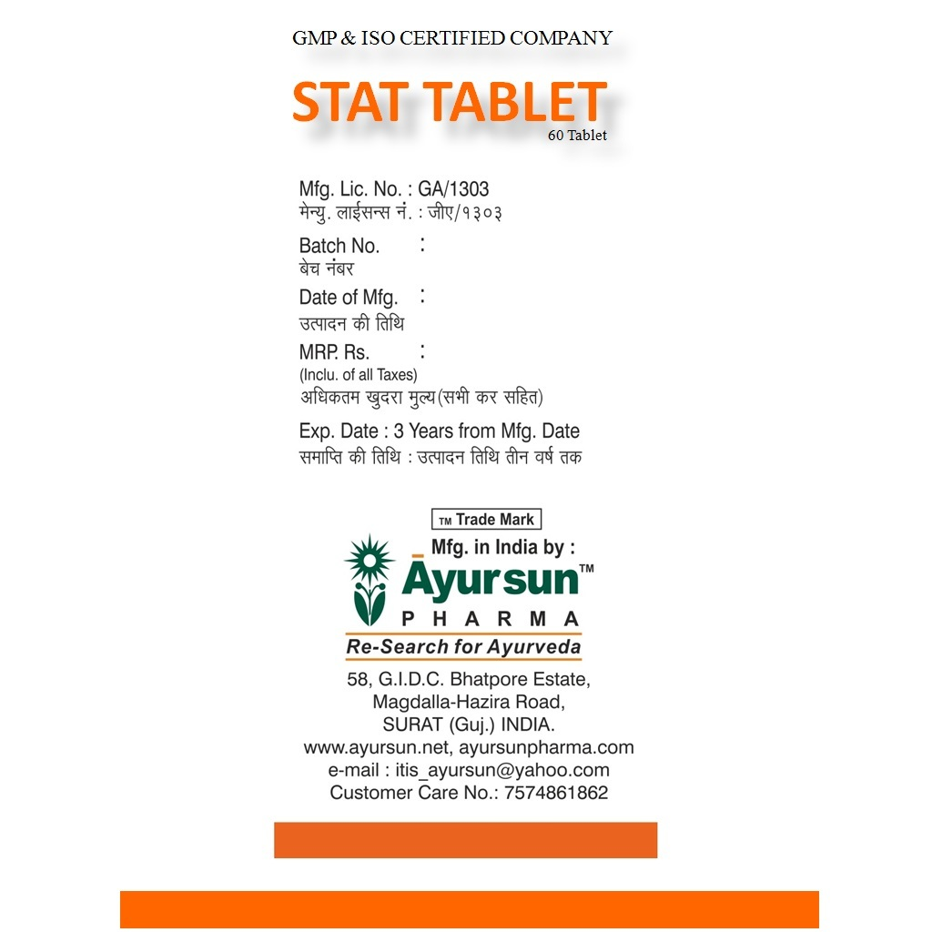 Ayurvedic Ayursun Medicine For Prostate - Stat Tablet