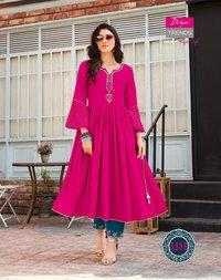 Diya Trendz Ethnicity Vol 5 Rayon With Embroidered and Classy Prints Kurti Catalog