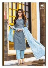 Kiana Cotton Candy Rayon And Cotton With Thread Work Readymade Suit Catalog