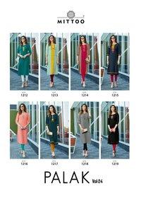 Mittoo Palak Vol 24 Heavy Rayon Printed Kurti Catalog