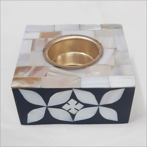 Mother Of Pearl Tea Light Square