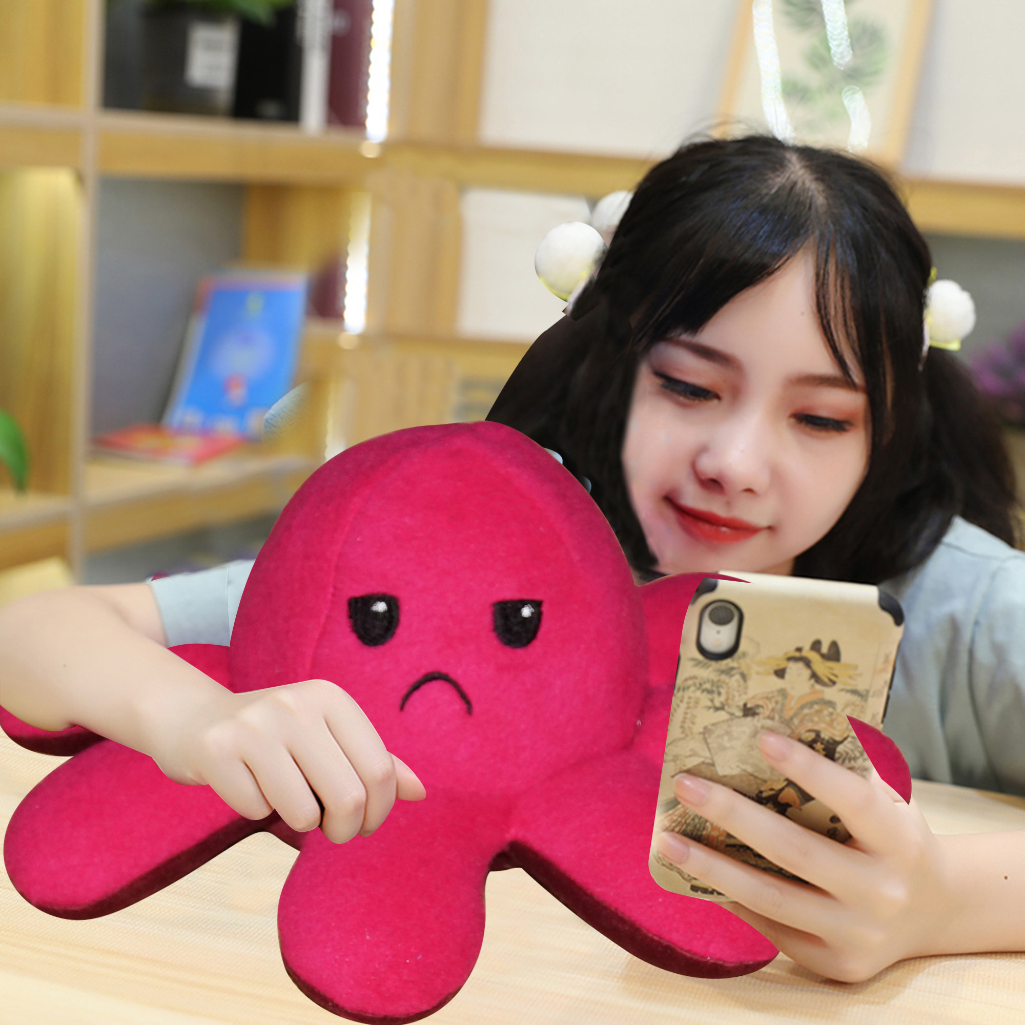 Octopus Stuffed Reversible Plush - Gift For Him & Her