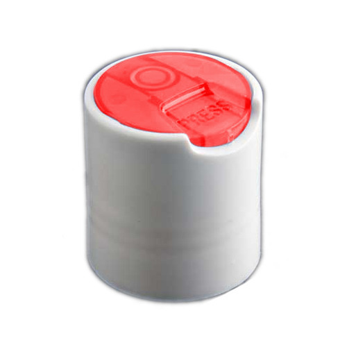 Red and White Plastic Disc Top Cap