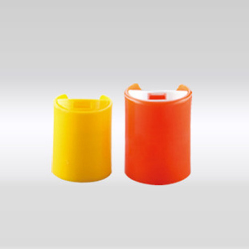 Yellow and Red Disc Top Caps
