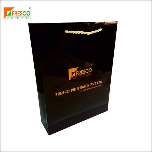 Premium Paper Bag With Gold Connector Rope Handle Max Load: 5 Kg  Kilograms (Kg)