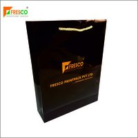 Premium Paper Bag With Gold Connector Rope Handle