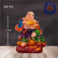 11 Inch Fancy Laughing Buddha Statue