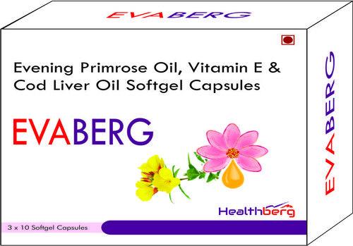 Evening Primrose oil, Vitamin e & Cod liver oil Softgel Capsules