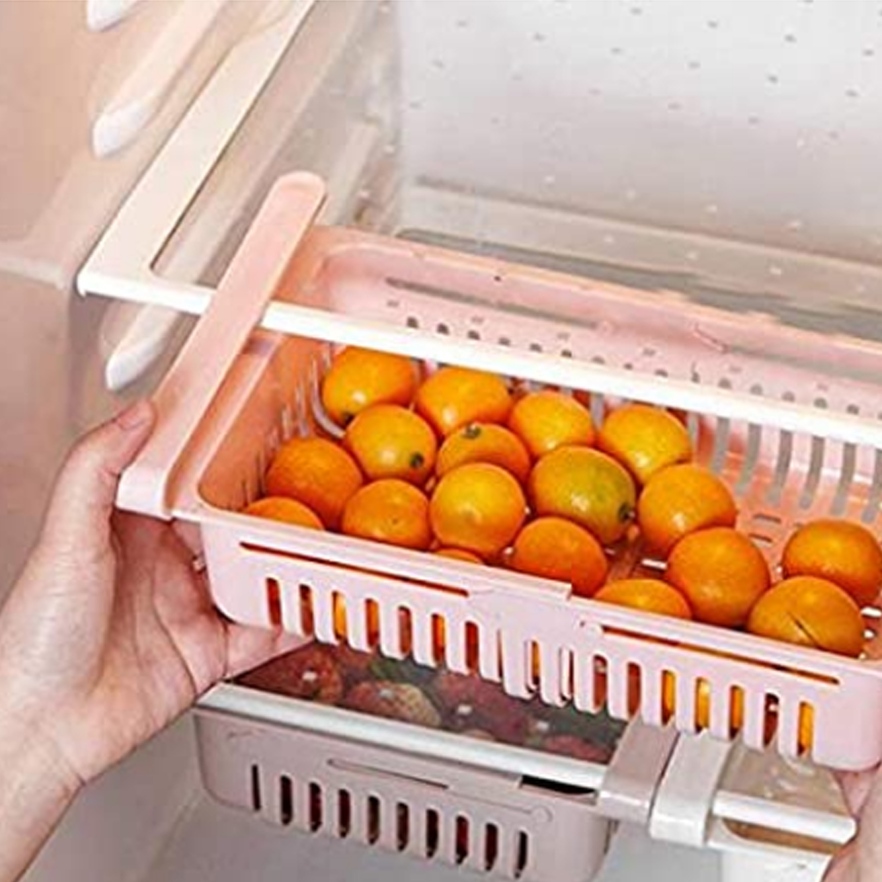 Expandable Adjustable Fridge Storage Basket