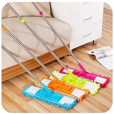 FLOOR CLEANING MOP WITH STEEL ROD LONG HANDLE