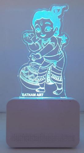 3D ACRYLIC BAL KRISHNA CAR NIGHT LAMP
