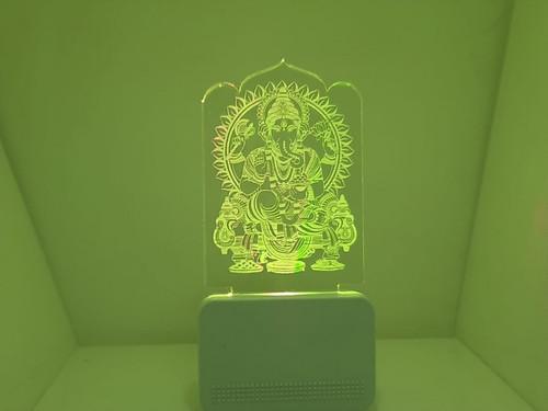 3D ACRYLIC GANESHA CAR NIGHT LAMP