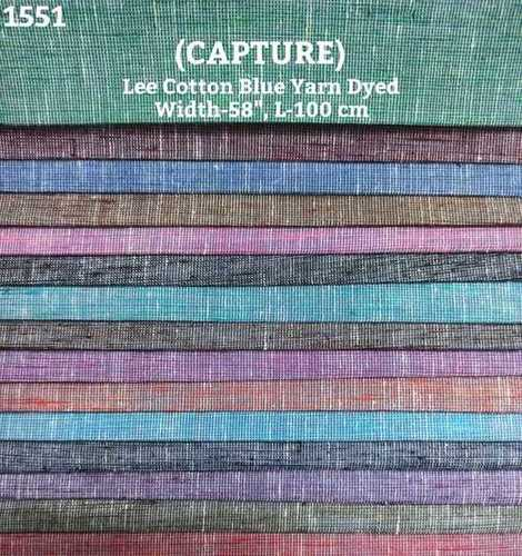 Capture Lee Cotton Blue Yarn Dyed Shirting Fabric