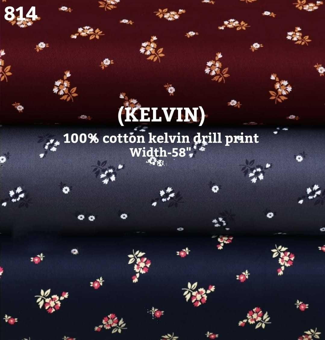 Kelvin 100% Cotton Kelvin Drill Print Shirting Fabric