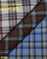 Swiss Cotton Yarn Dyed Shirting Fabric