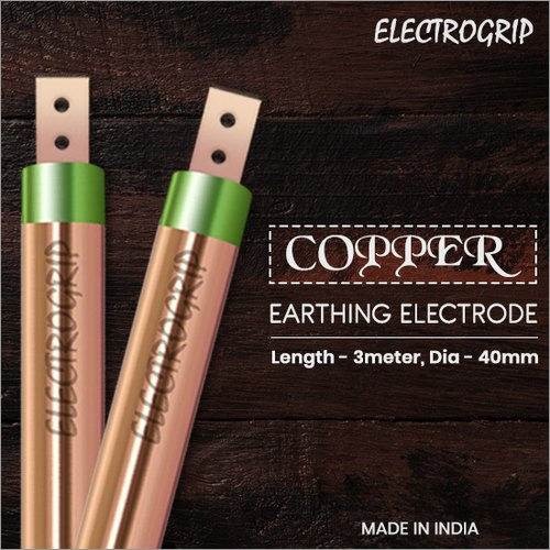 Electrogrip 40mm 3 Meter Pure Copper Earthing Electrode