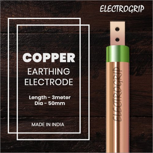 Electrogrip 50mm 3 Meter Pure Copper Earthing Electrode