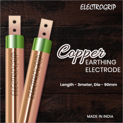 Electrogrip 90mm 3 Meter Pure Copper Earthing Electrode