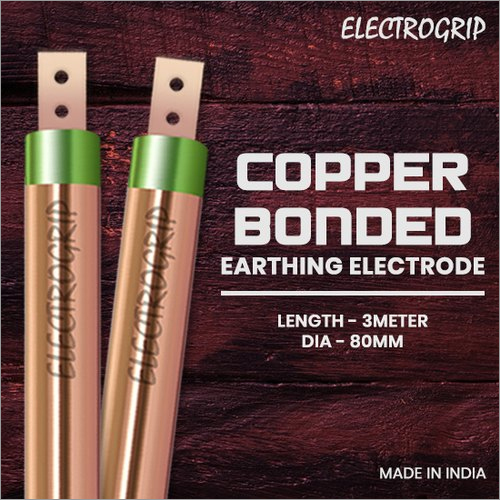 Electrogrip 80mm 3 Meter Copper Bonded Earthing Electrode