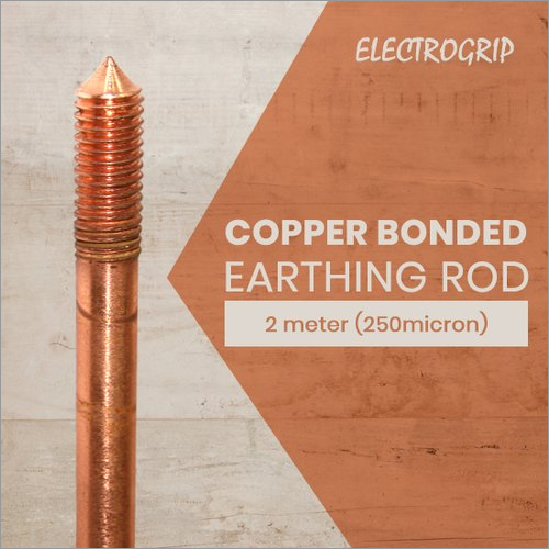 Electrogrip 2 Meter 250-Micron Copper Bonded Earthing Rod