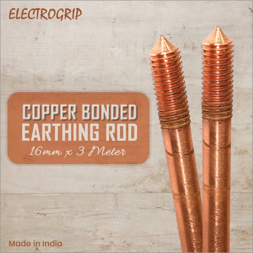 Electrogrip 16mm 3 meter Copper Bonded Earthing Rod