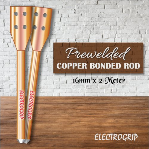 Electrogrip 16mm 2 Meter Prewelded Copper Bonded Rod
