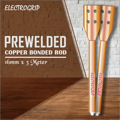 Electrogrip 16mm 3 Meter Prewelded Copper Bonded Rod