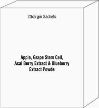 Apple,Grape Stem Cell, Acai Berry Extract & Blueberry Extract Powder Sachet