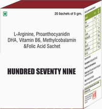 L Arginine, Proanthocyanidin, DHA, Vitamin B6, Methyl cobalamin & Folic Acid Sachet