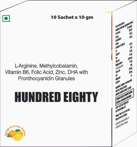L Arginine, Methyl cobalamin, Vitamin B6 , Folic Acid, Zinc, DHA with Pronthocyanidin Granules