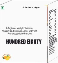 L Arginine, Methyl cobalamin, Vitamin B6 , Folic Acid, Zinc, DHA with Pronthocyanidin Granules