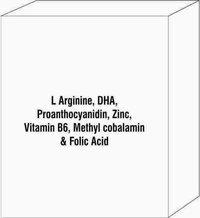L Arginine, Dha, Proanthocyanidin, Zinc, Vitamin B6, Methyl Cobalamin & Folic Acid