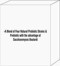 A Blend of Four Natural Probiotic Strains & Prebiotic with the advantage of Saccharomyces Boulardi