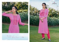 Rangoon Light Line Vol 6 Linen Silk Work Kurti Catalog
