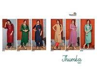 Vardan Designer Jhumka Vol 1 Rayon Kurti With Bottom Catalog
