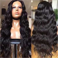28 Natural Wave Indian Remy Hair Full Lace Wig