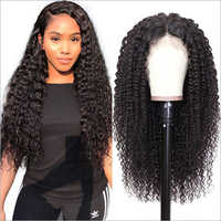 Water Curl Virgin Indian Remy Hair Full Lace Wig