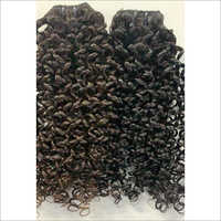 Natural Black Loose Curly Indian Weft Remy Hair