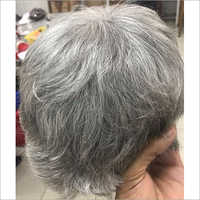Gray Color Mens Patch Hair