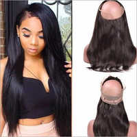 1003 Natural Straight 360 Lace Frontal Hair