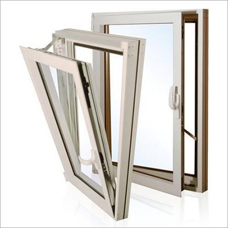 Grey Aluminum Glass Window