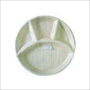12 Inch Areca Palm Leaf 4 Partition\ Plate