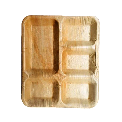 11 Inch Areca Palm Leaf 4 Partition Plate
