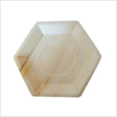 10 Inch Areca Palm Leaf Hexagon Plate