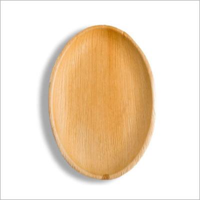 11 Inch Areca Palm Leaf Ellipse Plate